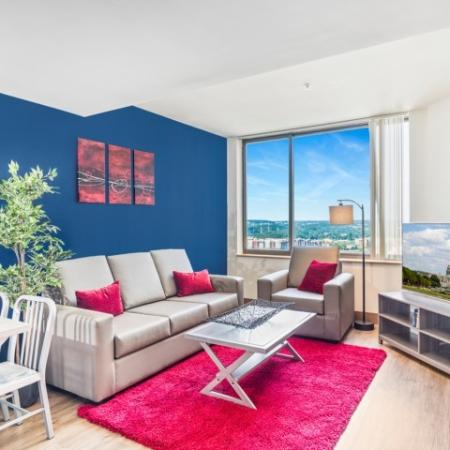 Luxurious Living Room | Apartments Near Umd College Park | Vie at University Towers