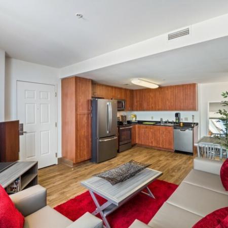 Elegant Living Room | Umd Apartments | Vie at University Towers