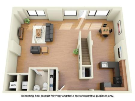 3 Bedroom Floor Plan | Off Campus Housing Umd | Vie at University Towers