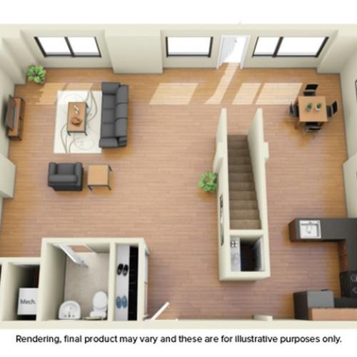 3x3 Townhome - Floor 1