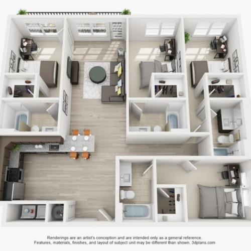 Floor Plan 1 | texas state off campus housing | Vie Lofts at San Marcos