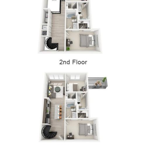 Floor Plan 2 | texas state university housing | Vie Lofts at San Marcos