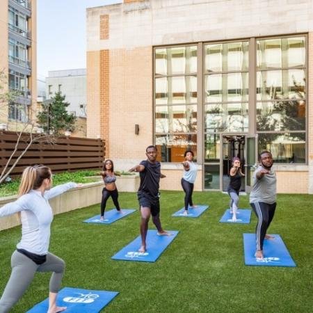 Yoga Studio Class | Apartment Homes in Hyattsville, MD | Vie at University Towers LLC