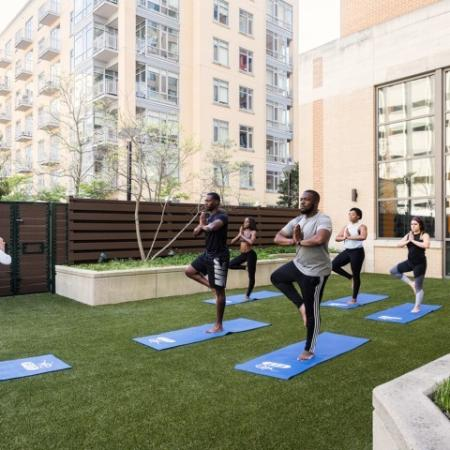 Resident Yoga Studio | Apartments in Hyattsville, MD | Vie at University Towers LLC