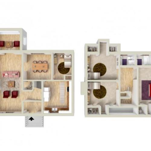 Floor Plan 12 | Fort Knox Housing On Post | Knox Hills