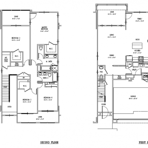4-bedroom two story multiplex towhome on FTSH, AMR, large floor plan at 2240 sq ft