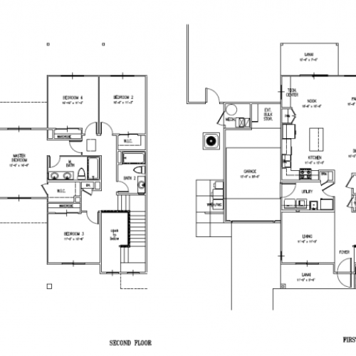 4-bedroom new two story townhome on Schofield, Wheeler AAF, 1950 sq ft with one car garage and a fenced in yard