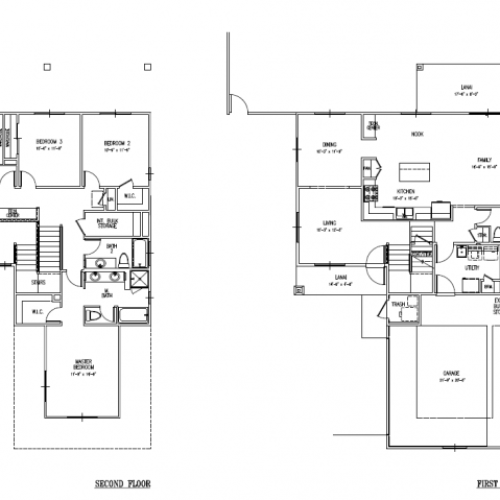 4-bedroom two story single family home on FTSH, AMR, 2299 sq ft, with 2-car garage