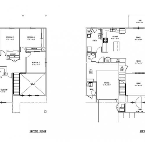 5-bedroom two story townhome, 2300 sq ft, with 1-car garage and fencd in yard