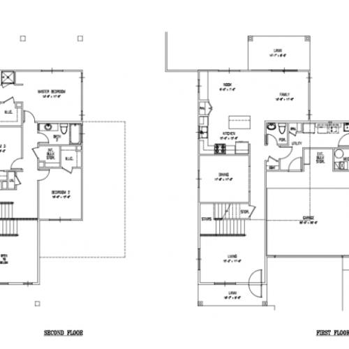 3-bedroom new single family home on Schofield, Wheeler, 2031-2087 sq ft, 2-car garage