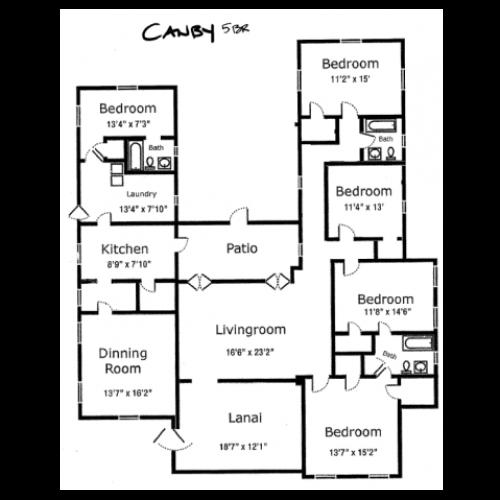 5-bedroom historic stucco on Schofield, 2113 sq ft, open floor plan