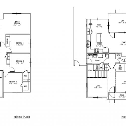 5-bedroom new single family home on Schofield, Wheeler, 2496 sq ft, 2- car garage, fenced in yard, floor plan