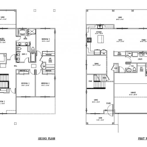 5-bedroom new single family home on FTSH, AMR, 2627 sq ft, 2-car garage, large floor plan