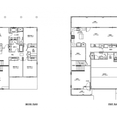 4-Bedroom Senior Officer Home on Ft Shafter, Radar Hill, FTSH, floor plan