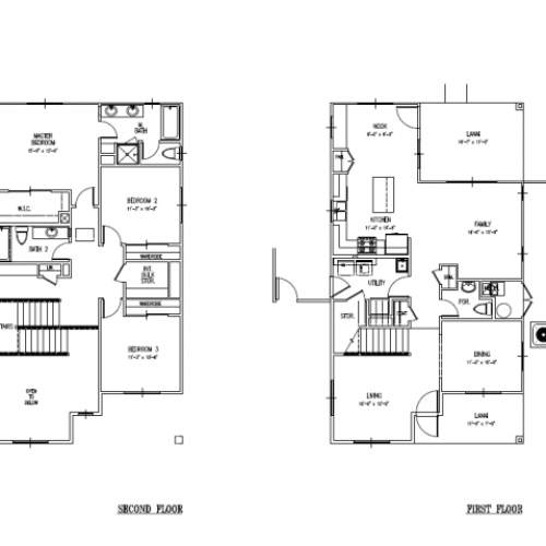 3-bedroom single family E9 home on Schofield and AMR, Floor plan at 2031-2087 sq ft