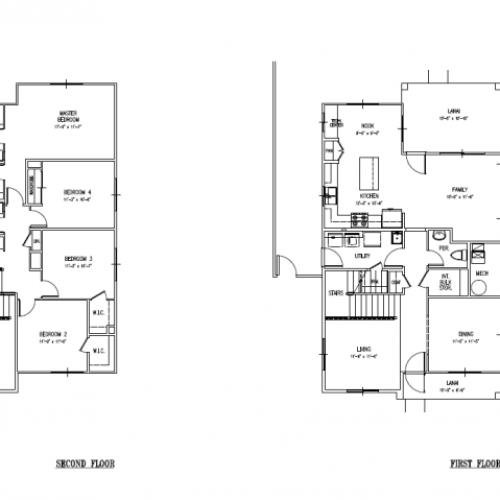 4-Bedroom Sergeant Major Home on Schofield Barracks and AMR, 2173-2184 sq ft, 2-car garage