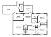 3 Bedroom Floor Plan | Havelock Nc Rentals | Atlantic Marine Corps Communities at Cherry Point