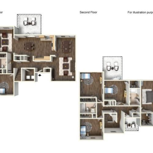 Floor Plan 14 | Fort Hood Family Housing | Fort Hood Family Housing