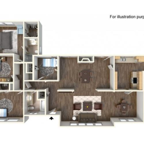 Floor Plan 7 | fort hood housing floor plans | Fort Hood Family Housing