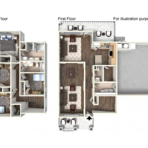 Floor Plan 19 | Fort Hood Family Housing | Fort Hood Family Housing