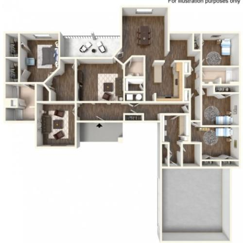 Floor Plan 20 | fort hood texas housing | Fort Hood Family Housing