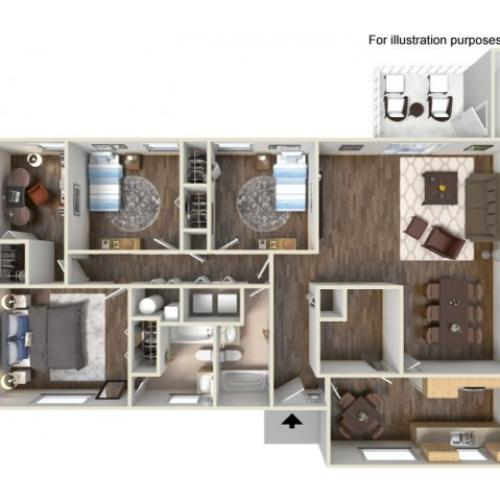 Floor Plan 11 | Fort Hood Housing | Fort Hood Family Housing