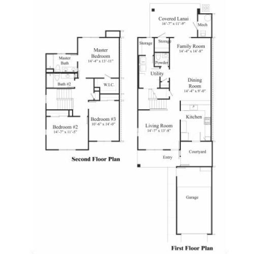 3 Bedroom Floor Plan | pearl harbor hickam housing | Hickam Communities