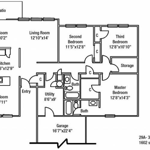 Junior Enlisted 3 BDRM Floor Plan | On Post Housing Fort Drum