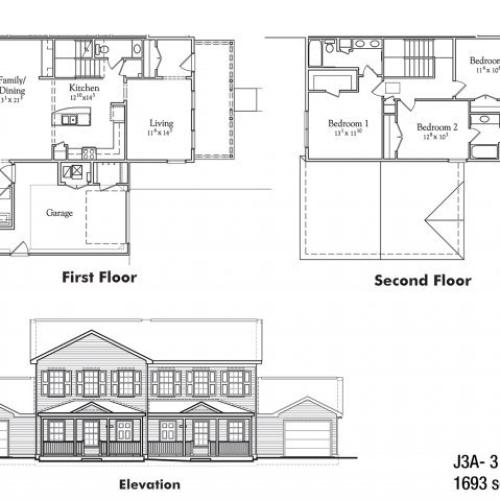 Three bedroom JNCO floor plan | apartment rentals watertown ny