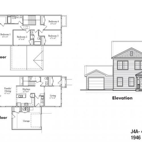 Four bedroom JNCO floor plan | fort drum apartments