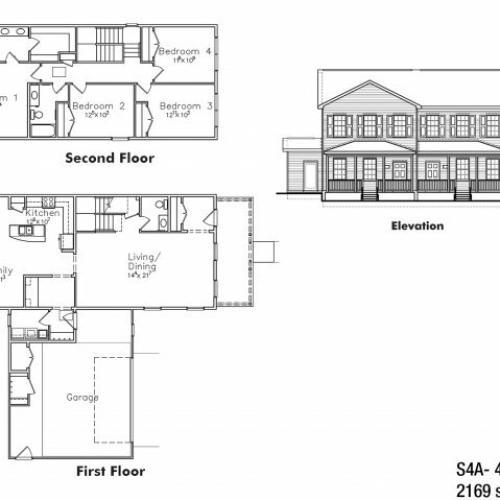 Four bedroom SNCO floor plan | fort drum housing