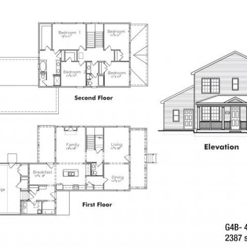 4 BDRM Sergeant Major Floor Plan | Fort Drum Apartments