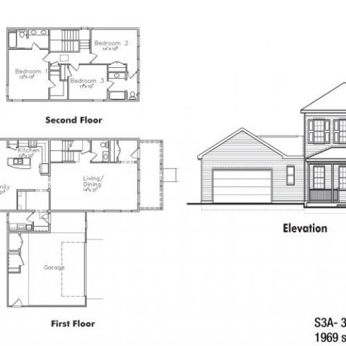 CGO 3 BDRM Floor Plan | Ft Drum Housing