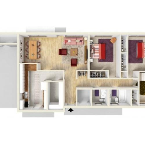 Floor Plan 6 | Fort Knox Housing | Knox Hills