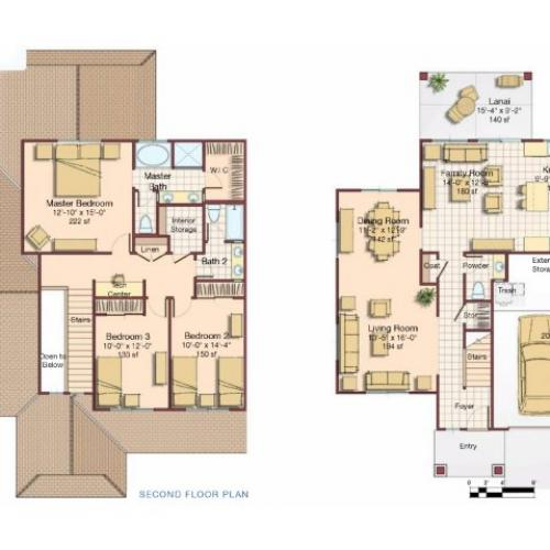 3 Bdrm 2 Story Floor Plan | Hickam Communities | Hickam Communities