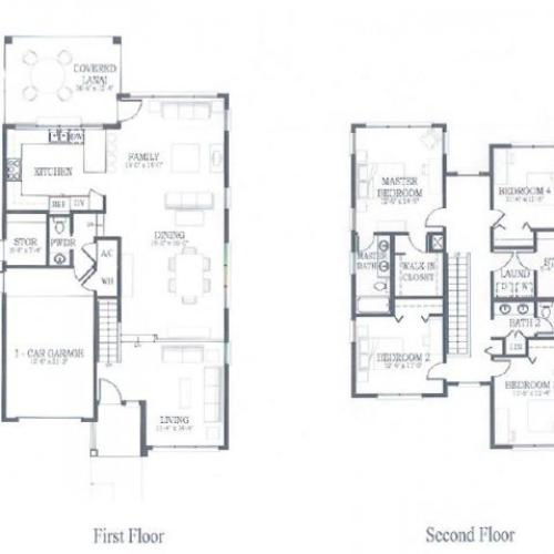 4 Bedroom 2.5 Bath Floor Plan | hickam housing floor plans | Hickam Communities