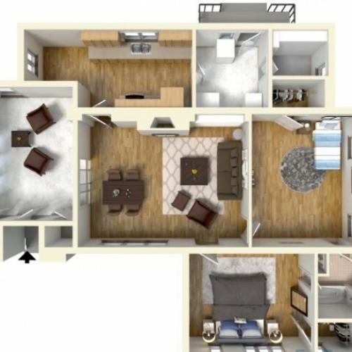 2-bedroom historic single family home on Wheeler, single family home, 3D floor plan