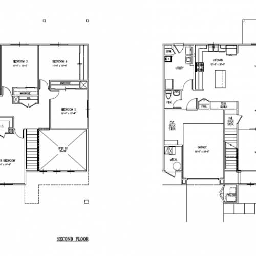 5-bedroom new duplex town home on Schofield, Wheeler, HMR, 2300 sq ft, opem floor plan