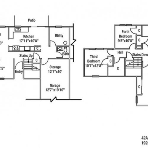 Junior Enlisted 4 BDRM Floor Plan | Fort Drum Housing