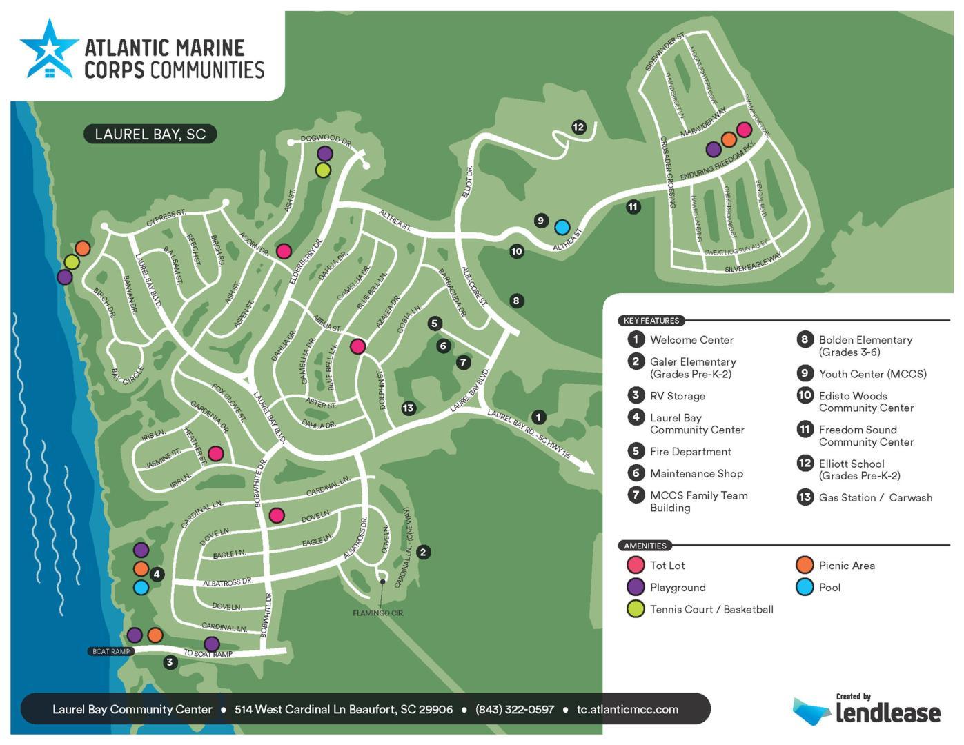 AMCC TriCommand Beaufort SC Apartments For Rent TriCommand - Parris map