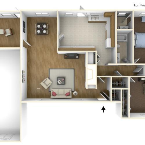 Laurel Bay Aiken 3D Floor Plan