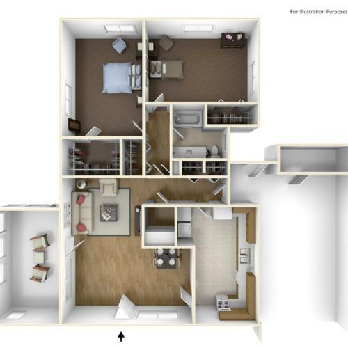 Laurel Bay Estill II 3D Floor Plan