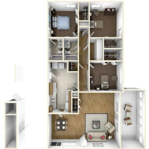 Laurel Bay Greer I 3D Floor Plan