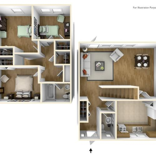 Westover Housing MacArther 3D Floor Plan