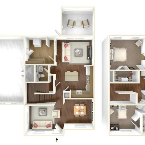 Nugent Cove Champagne 3D Floor Plan