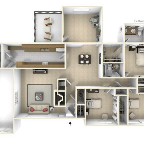 Grant\'s Landing Ford 3D Floor Plan