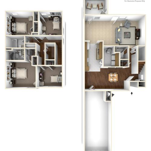 4 Bedroom Floor Plan | base housing cherry point nc | Atlantic Marine Corps Communities at Cherry Point