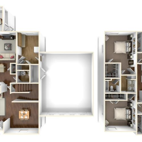 Nugent Cove Kellogg 3D Floor Plan