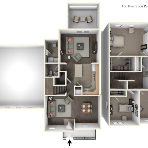 Stewart Terrace Morris 3D Floor Plan