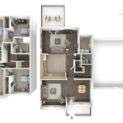 Stewart Terrace Noonan 3D Floor Plan